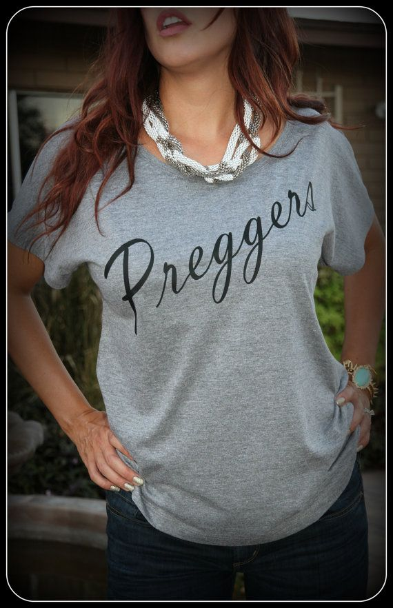 Preggers Shirt Prego Shirt Pregnant Mom To Be by TheStickerPlace