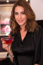 Lisa Snowdon with our 'Keglevich Woo Woo' cocktail made with our delicious peach flavoured Keglevich vodka.