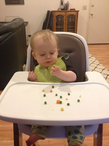 "This is kinda like a baby edition ""what I ate"" post.  [Again, mind the disclaimer] (10-12 month old) baby eats: 7 am – nurse 9 am – breakfast: 1-2 scrambled eggs, 1/2 cup halved blueber…"