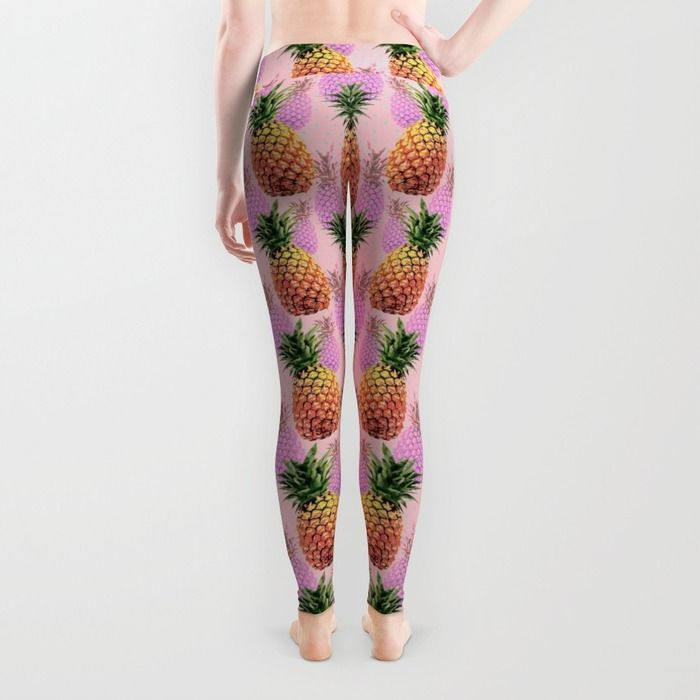 Juicy pineapple leggings - Back http://society6.com/product/juicy-pineapple-2jk_wall-clock#33=283&34=285