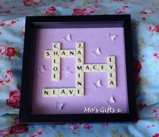 10 best Scrabble Frames images on Pinterest | Scrabble frame, Box ...