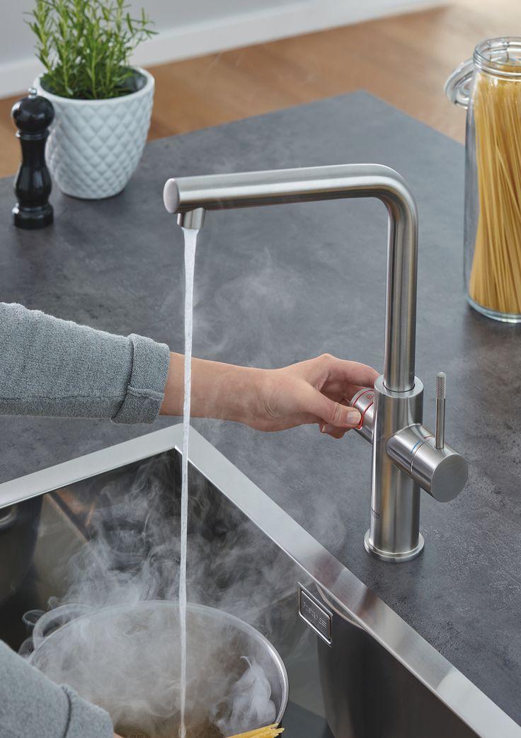 Grohe Red kokendwater kraan met standby-functie voor minder energieverbruik en elektronische ChildLock-beveiliging #keuken #keukenkraan #kokendwaterkraan #grohe