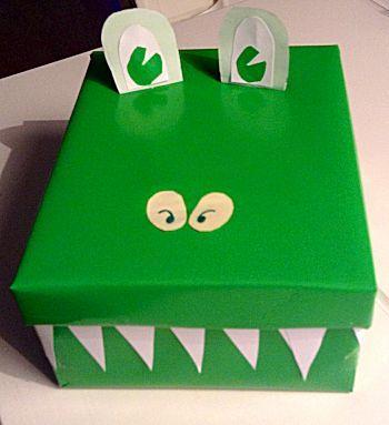 #Krokodil verrassing is een knutselwerkje uit de #Sinterklaassurprise