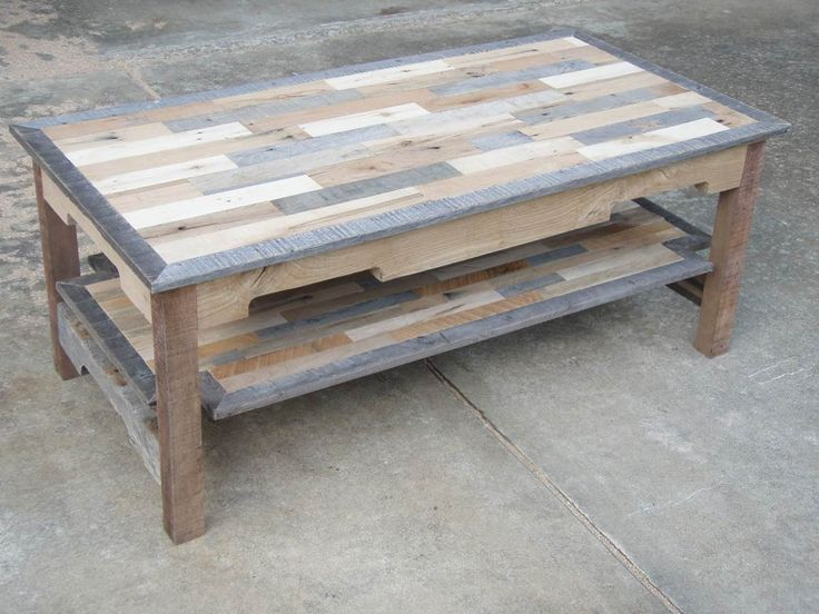 pallet wood coffee table series knotthead nate custom