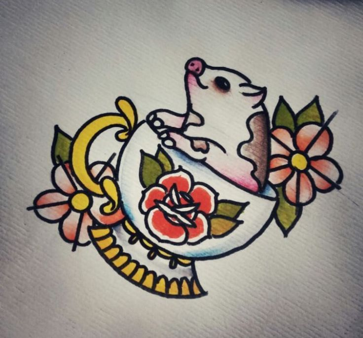 Cutest pig tattoo idea                                                                                                                                                     More