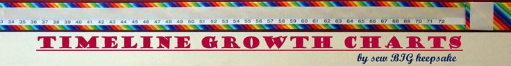 Etsy shop for kids keepsake, fabric, timeline growth charts and other sewn keepsakes for children