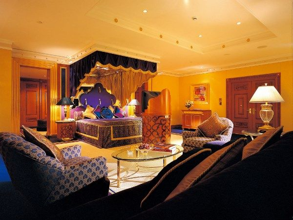 Bedroom decorated in Indian style