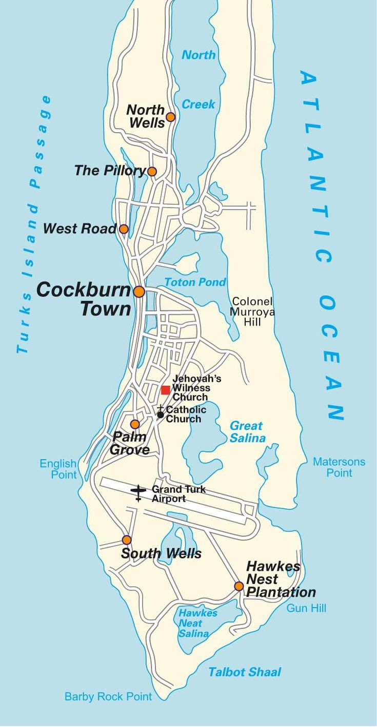 Grand Turk Island | Map Grand Turk Island, Turks & Caicos Islands. Maps and directions at ...