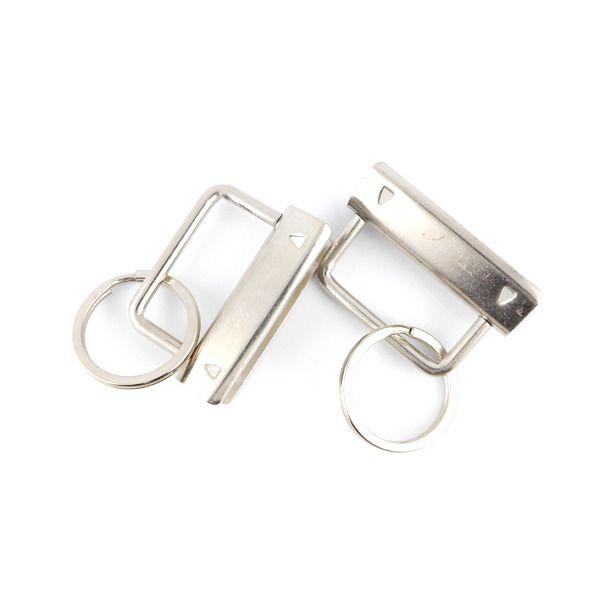 x2 Portes-clés rectangle à griffes argentés 47x40mm : Supports petits accessoires par perlio