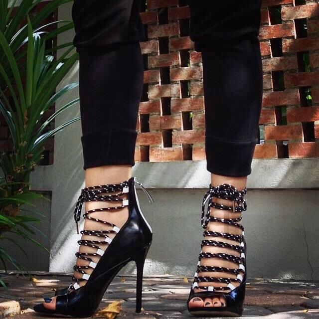 Gorgeous chain high heels for that edgy look