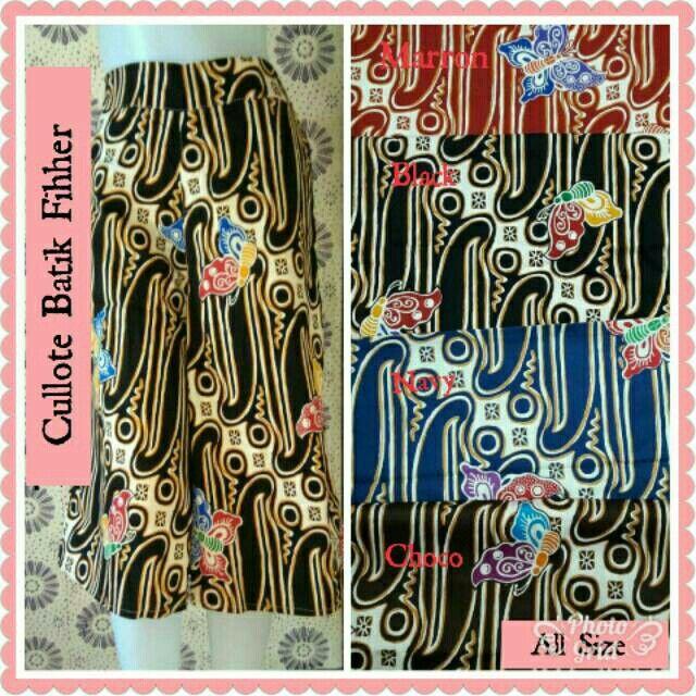 Saya menjual Cullote Batik Fihher 7 /8 seharga Rp60.000. Dapatkan produk ini hanya di Shopee! https://shopee.co.id/hamzahnisa21/650796690 #ShopeeID