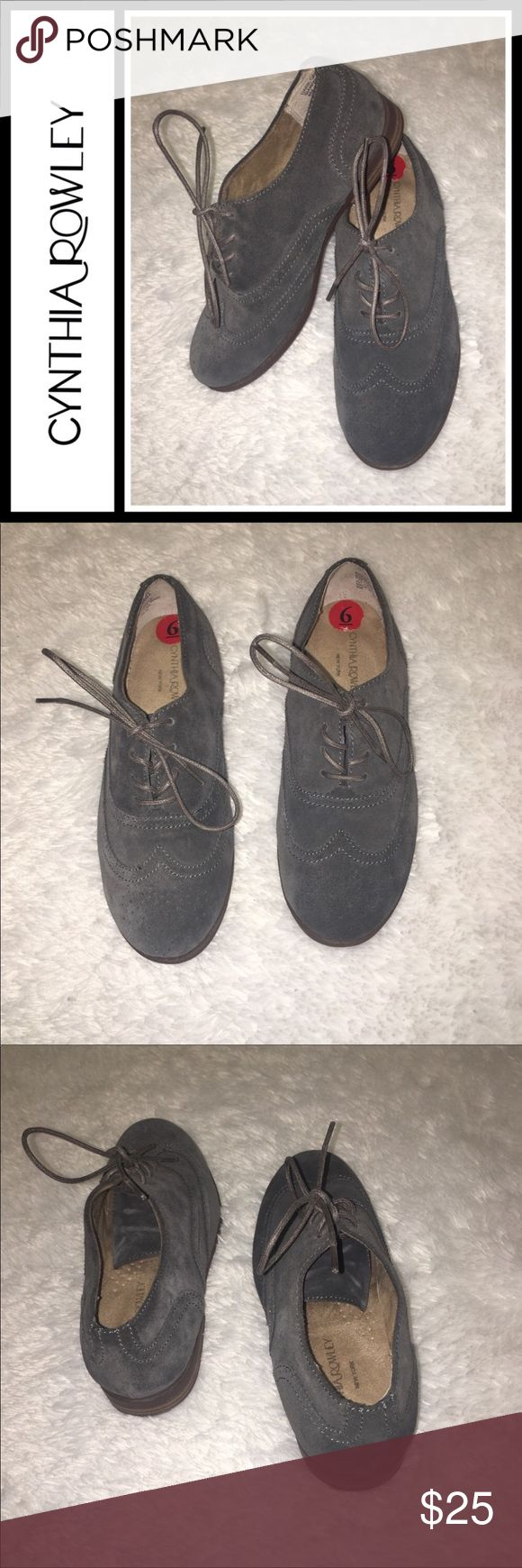 Cynthia Rowley Grey Suede Casual Oxford shoes NWOB Cynthia Rowley Grey Suede Casual Oxford shoes NWOB  New without box, leather suede grey oxford loafers from Cynthia Rowley. Size 6 Cynthia Rowley Shoes Flats & Loafers
