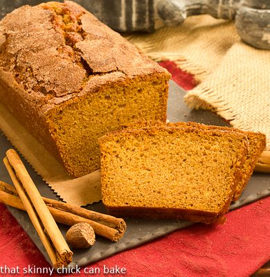 Cinnamon Crusted Pumpkin Bread--perfect fall comfort food!