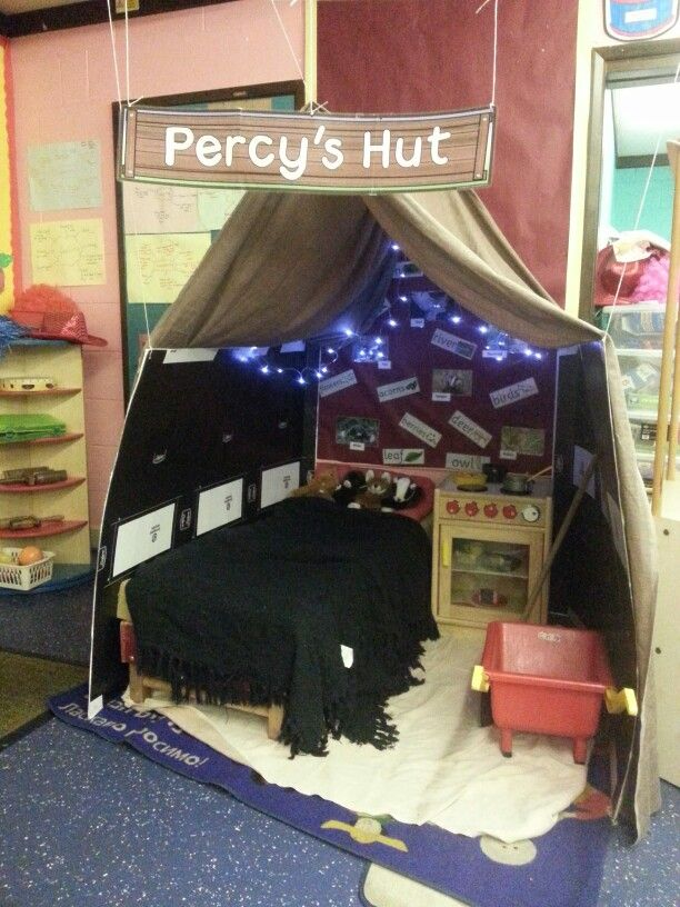 Roleplay area for Percy the Park Keeper! Kids (and adults!) Love it.