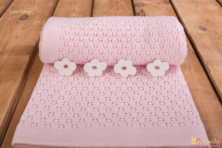 Pletená deka Breeze - ružový obláčik pre bábätko :)  Slovenský výrobok, samozrejme.