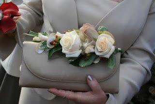 super glamorous Mum looked stunning, we dressed her hand bag with Metalina & Vendella Roses