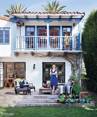 Amber Valletta's Santa Monica Abode - The Back Patio from #InStyle