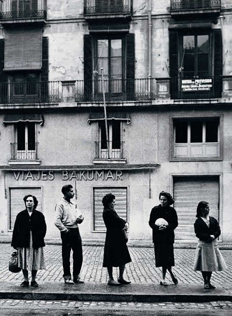 "Ramon Massats.""Waiting for the bus"" Barcelona. 1956."