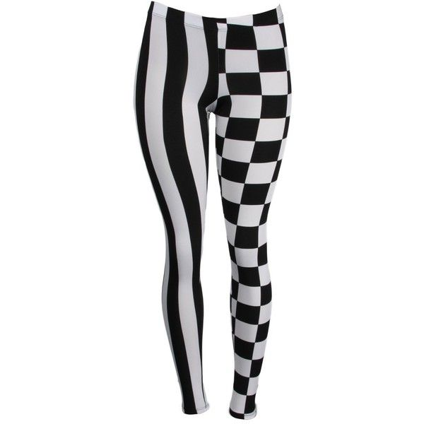 Blue Pearl Dual Pattern Checkered and Striped Leggings ($15) ❤ liked on Polyvore featuring pants, leggings, bottoms, tights, stripe leggings, legging pants, elastic waist pants, blue striped leggings and checkerboard leggings