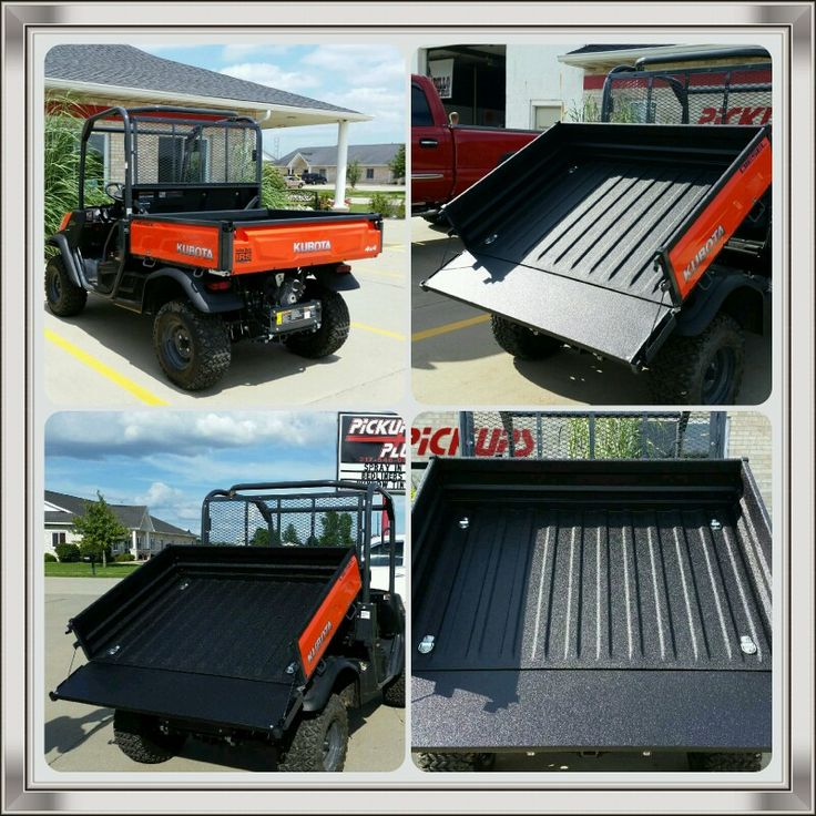 Pickups Plus Springfield sprayed bedliner material on this 2015 Kubota Tractor Corporation RTV-X900 Diesel. The bed of this #UTV was sprayed with bedliner material to give it protection from the scratches and scuffs of everyday use.  Pickups Plus Springfield can give your UTV the extra protection it needs. Visit us at 3941 Pintail Dr, Springfield IL to schedule your spray on bedliner appointment. #sprayonbedliner #springfieldil