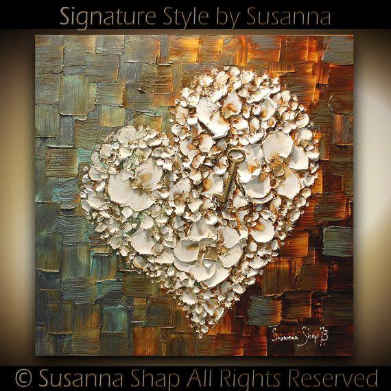 Susanna Shap ORIGINAL Abstract Thick Texture Flowers Art by ModernHouseArt....just beautiful