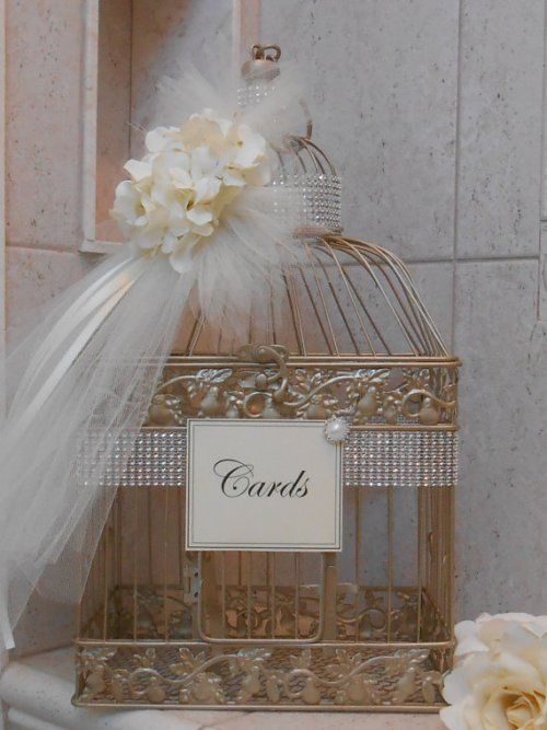 Wedding Card Box-Birdcage holder