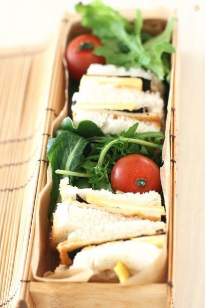 しっかり味のついてうすさつは、水分がないので、サンドイッチの具材にもぴったりです。