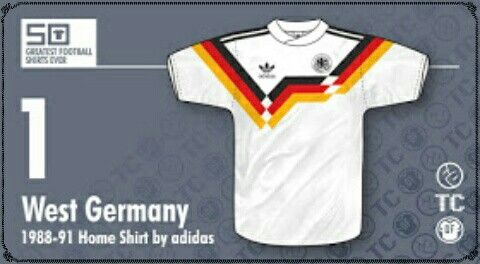 West Germany home shirt for 1988-91.