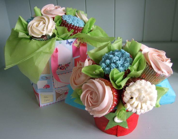 Cupcake bouquets by Little Aardvark Cakery (www.littleaardvarkcakery.com)