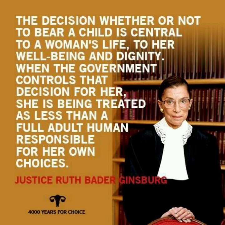 She rules...Too many people forget that pro choice does not mean pro abortion..Most of my friends are pro choice and I don't know anyone that would say they are pro abortion...
