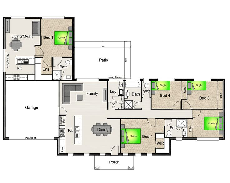 17 best images about house plans on pinterest rock for House plans with granny flat