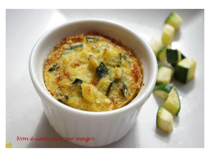 Sformatini di zucchine e gorgonzola
