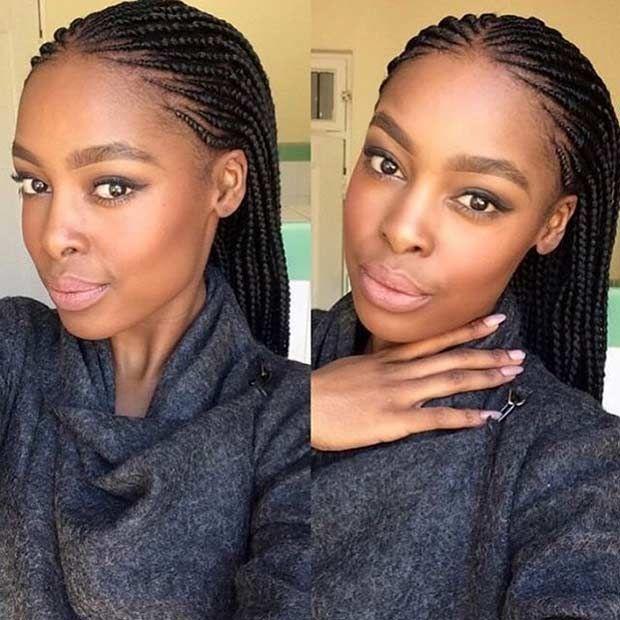 41 Beautiful Micro Braids Hairstyles - Micro Cornrows Hairstyle