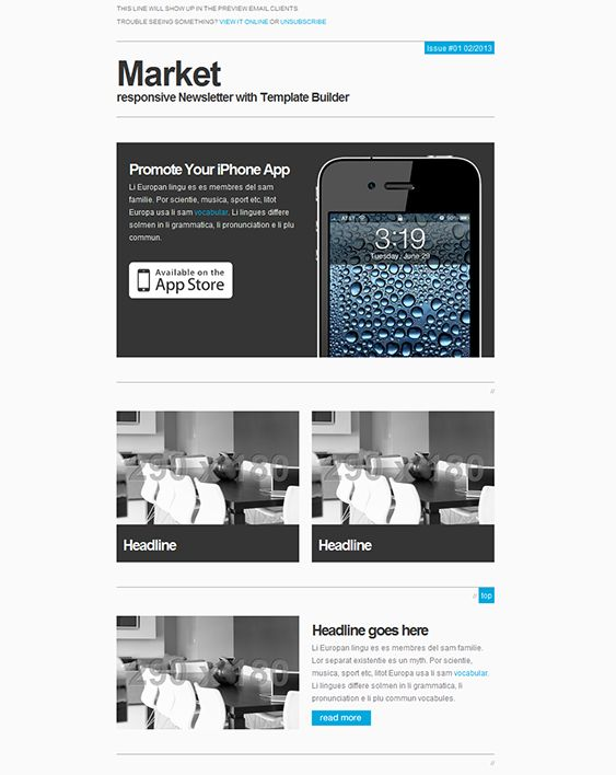 11 best 11 of the Best Responsive Email Templates images on - responsive email template