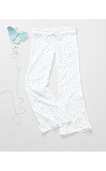 Lace Cover-Up Pants by PilyQ - Girls