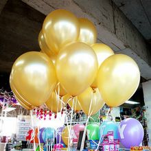 10pcs/lot 1.5g Gold Latex Balloon Air Balls Inflatable Wedding Party Decoration Birthday Kid Party Float Balloons Kids Toys(China (Mainland))