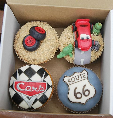 Route 66 Disney Pixar Cars Cupcakes!!!!! Perfect!