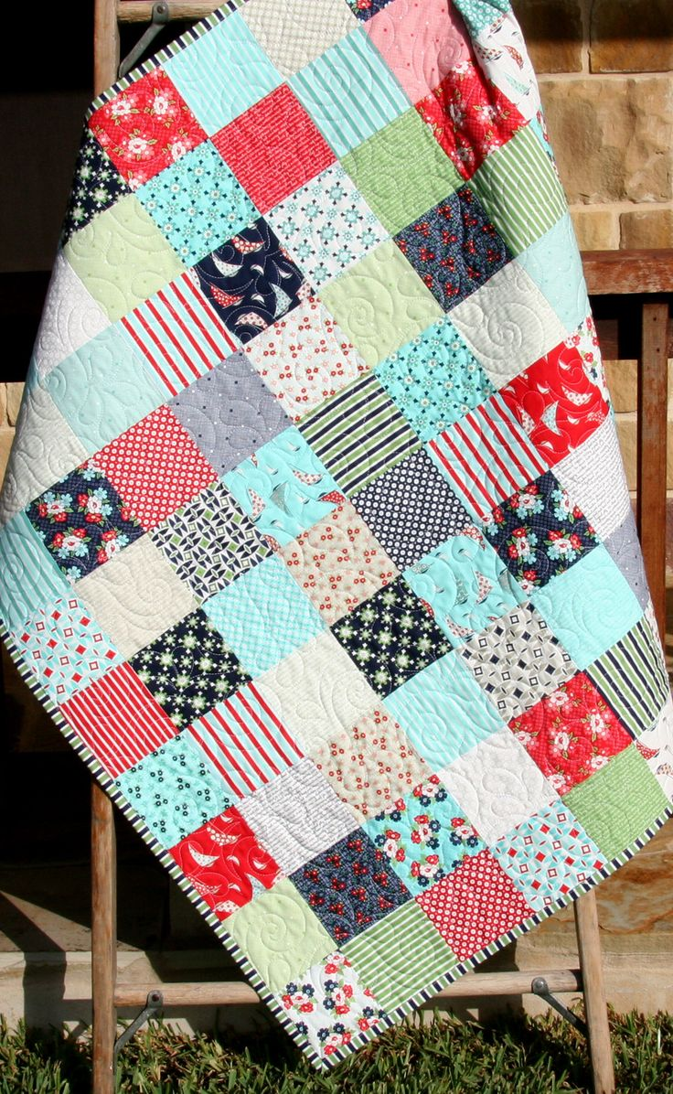 Daysail Baby Quilt Kit, Bonnie and Camille Moda Fabrics Quilting Project