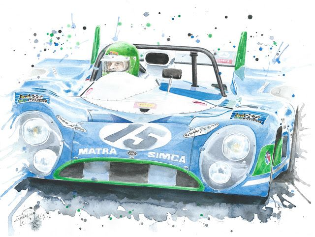 Nicolas Cancelier art automobile/Automotive art: Matra MS 670
