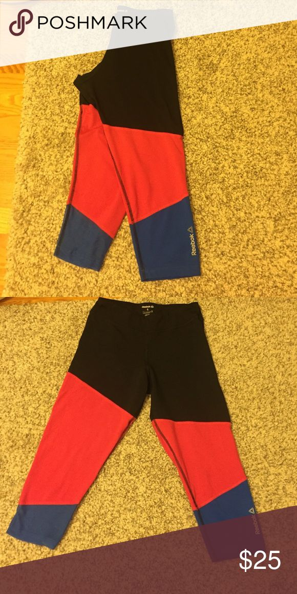 Reebok Training Capris Three color, Reebok training capris. Size small, great condition, barely worn! Reebok Pants Capris