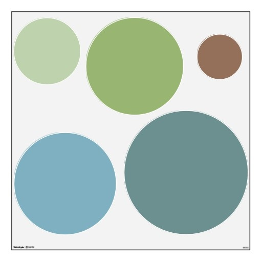 Trendy Soothing Colors Circles Wall Decals Set Dreaming