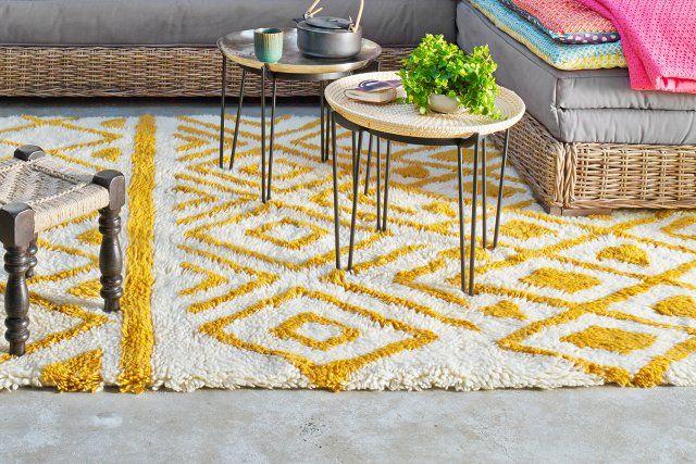 Un tapis jaune citron, La Redoute Intérieurs