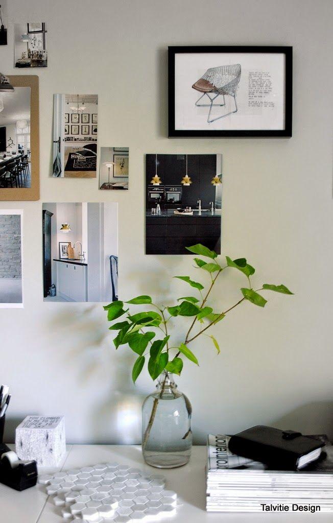 Vihreät seinät työhuoneeseen