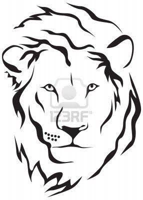 Image result for SIMPLE LION TATTOO