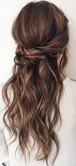 15 trendy hairstyles wavy hair ideas half up