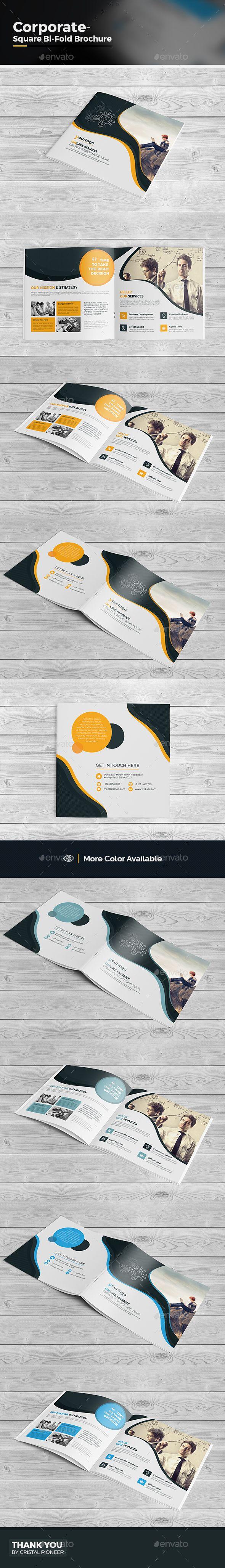 Multipurpose Square Bi Fold Brochure  — EPS Template #elegant #bi fold square • Download ➝ https://graphicriver.net/item/multipurpose-square-bi-fold-brochure/18335763?ref=pxcr