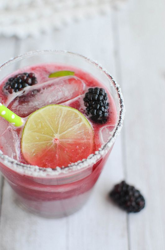 Summer isn't complete without a batch of Blackberry Margaritas!