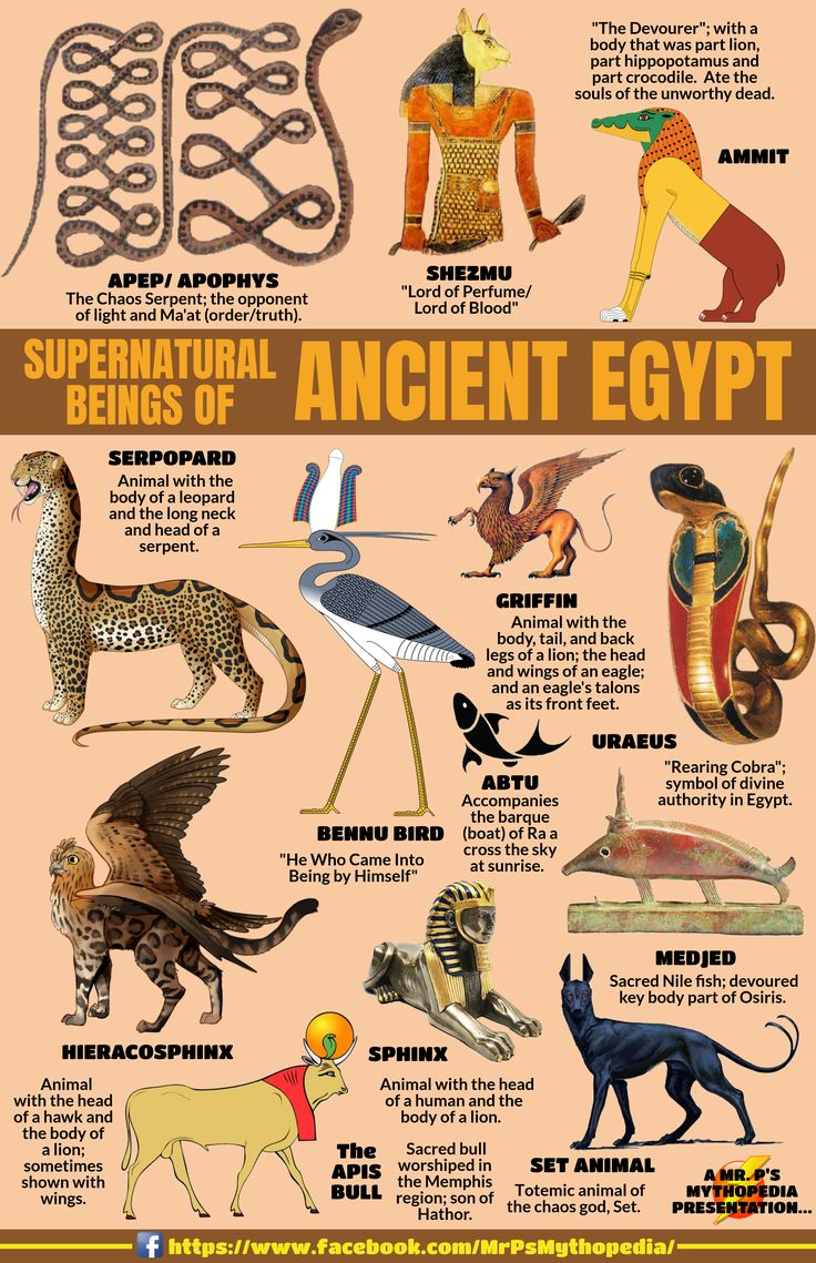 Supernatural Beings of Egyptian Mythology! #EgyptianMythology #Monsters #Supernatural #Creatures #Egypt #EgyptianCreatures #Mythology #MrPsMythopedia  https://www.facebook.com/MrPsMythopedia/