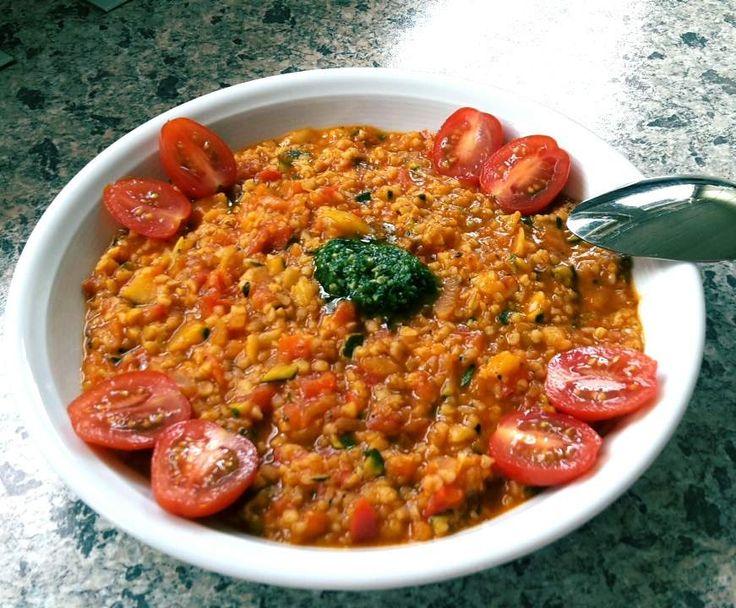 "Rezept Bulgur mit Gemüsesoße ""Rezept des Tages"" am 22.08.2016 von Bibbi72 - Rezept der Kategorie Hauptgerichte mit Gemüse"
