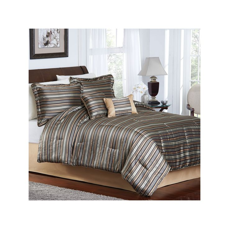 Colebrook 6 Pc Striped Comforter Set Queen Products King